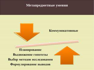 Метапредметные умения
