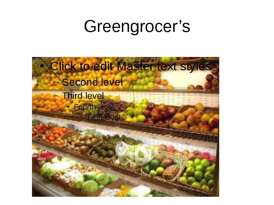 Greengrocer's