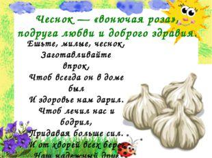 Чеснок — «вонючая роза», подруга любви и доброго здравия. Ешьте, милые, чесн