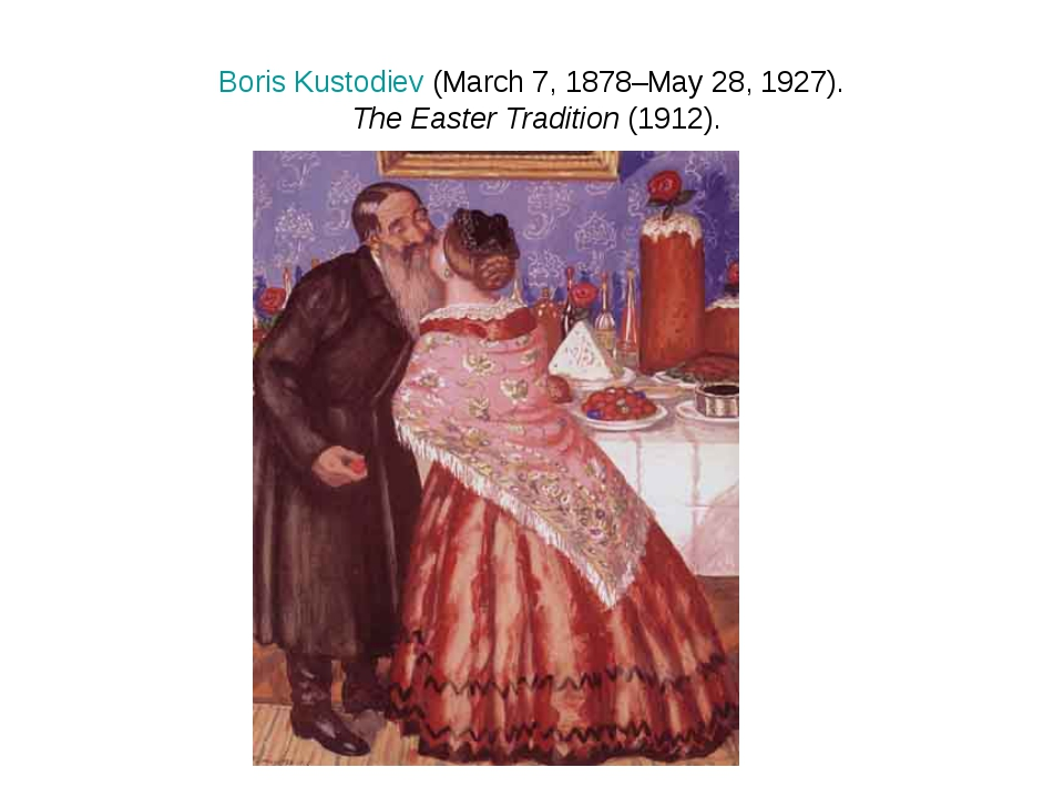 Boris Kustodiev (March 7, 1878–May 28, 1927). The Easter Tradition (1912).