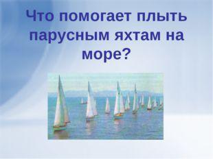 Что помогает плыть парусным яхтам на море?