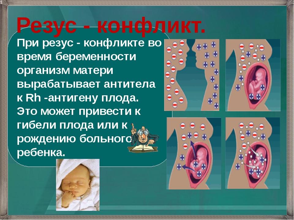 При резус - конфликте во время беременности организм матери вырабатывает анти...