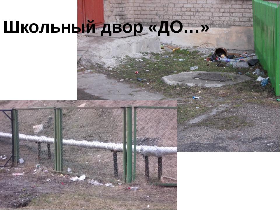 Школьный двор «ДО…»