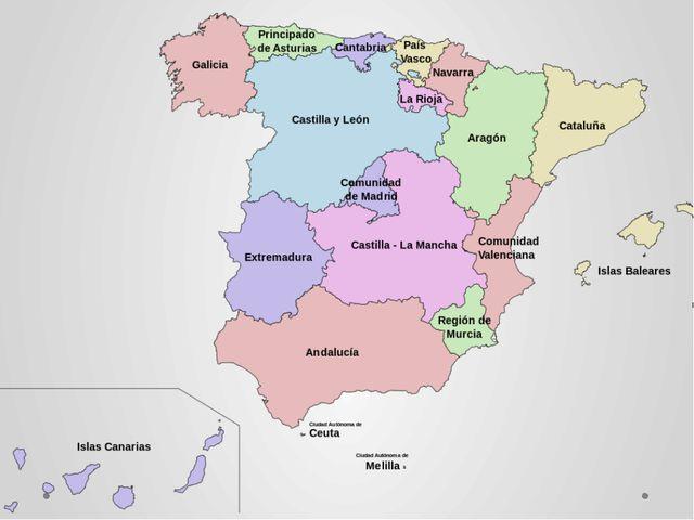Spain is made up of seventeen autonomous communities and two autonomous citi...