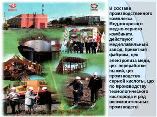 www.themegallery.com В составе производственного комплекса Медногорского медн