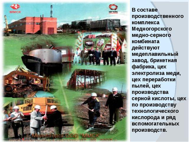 www.themegallery.com В составе производственного комплекса Медногорского медн...