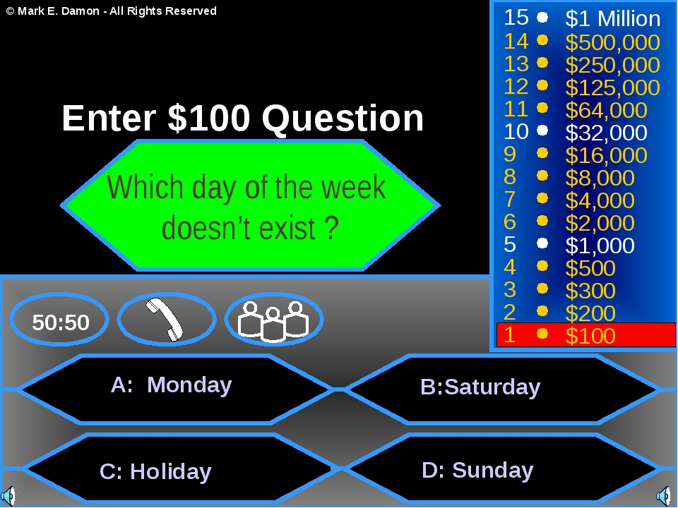 A: Monday C: Holiday B:Saturdаy D: Sunday 50:50 15 14 13 12 11 10 9 8 7 6 5...