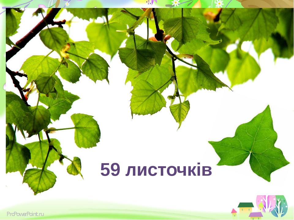 59 листочків ProPowerPoint.ru