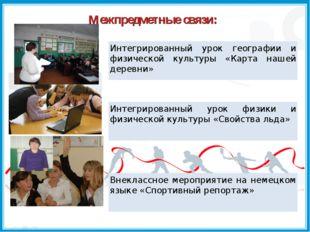 Межпредметные связи:
