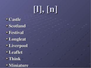 [l], [n] Castle Scotland Festival Longleat Liverpool Leaflet Think Miniature