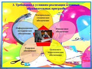 3. Требования к условиям реализации основных образовательных программ Материа