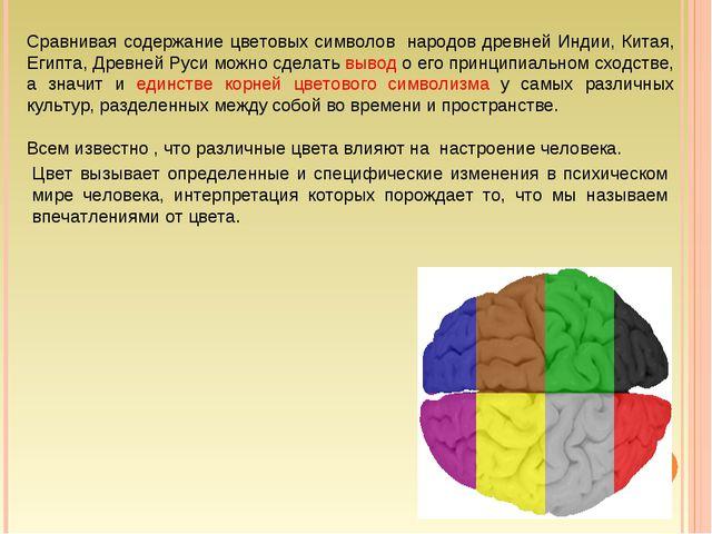 Цвет вызывает определенные и специфические изменения в психическом мире чело...