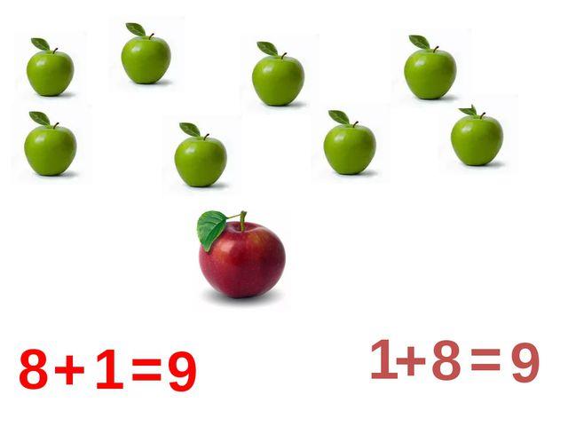 8 + 1 = 9 1 + 8 = 9