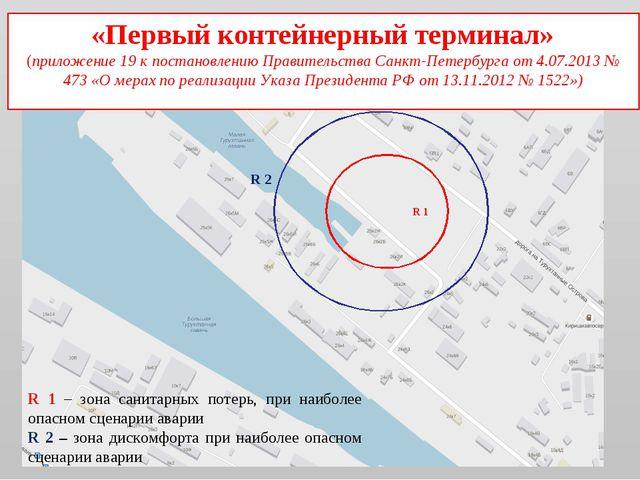 «Первый контейнерный терминал» (приложение 19 к постановлению Правительства С...