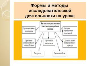 Формы и методы исследовательской деятельности на уроке