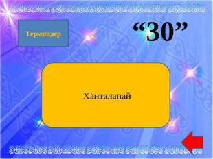 """30"" Ханталапай Терминдер"