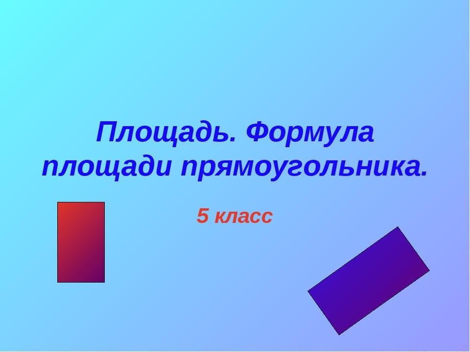 Площадь. Формула площади прямоугольника. 5 класс