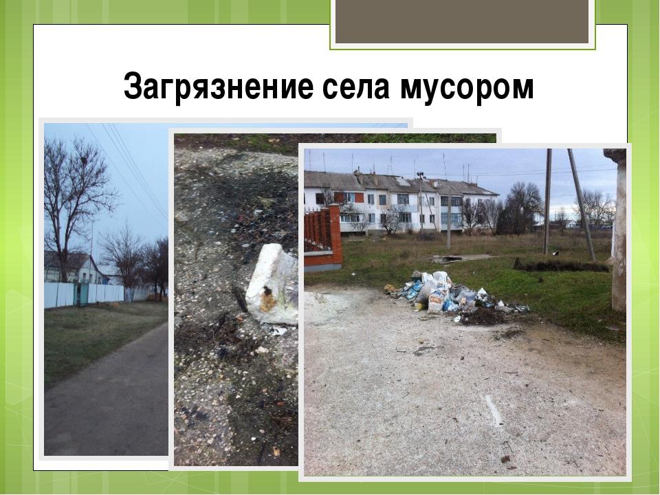 Загрязнение села мусором