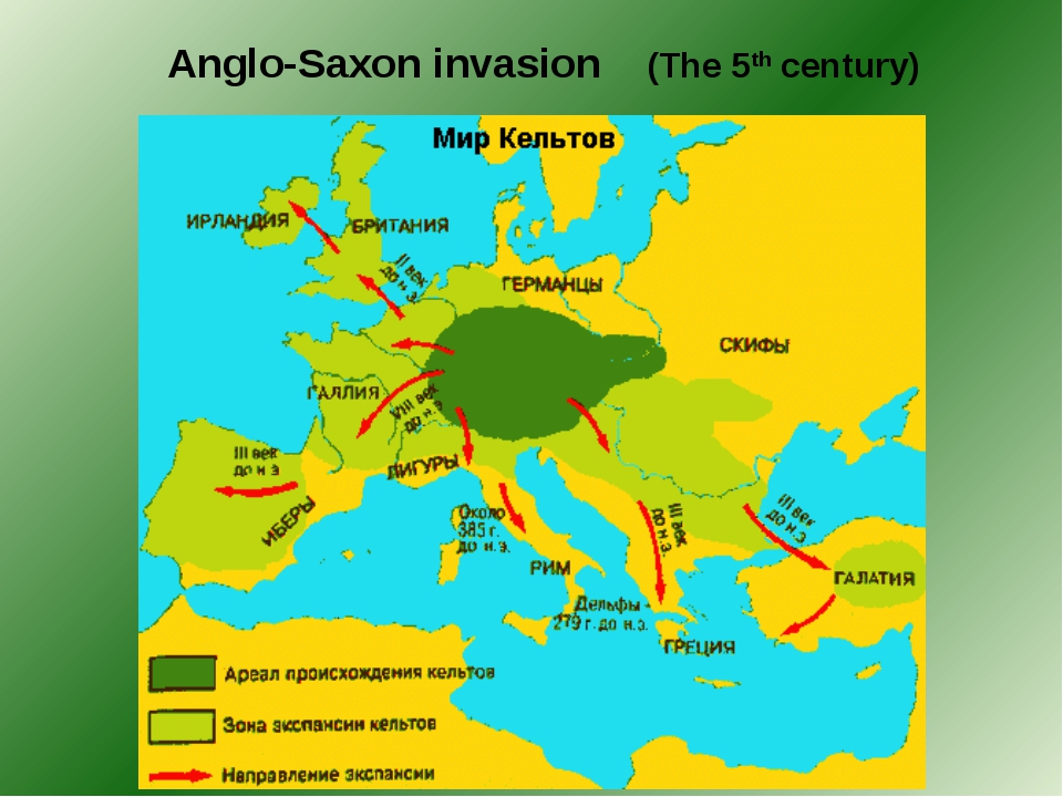 Anglo-Saxon invasion (The 5th century)