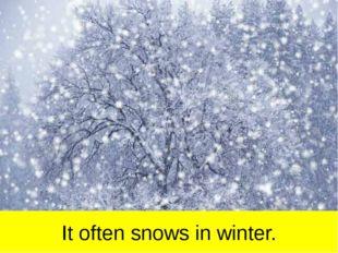 It often snows in winter.