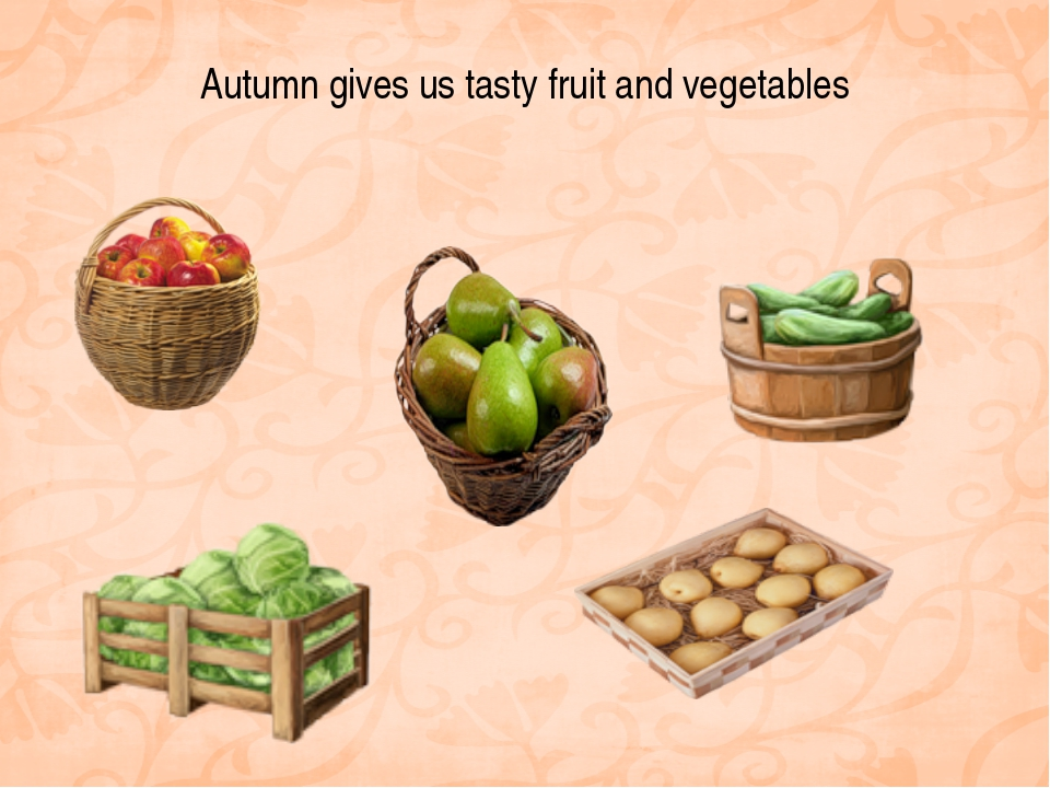 Autumn gives us tasty fruit and vegetables