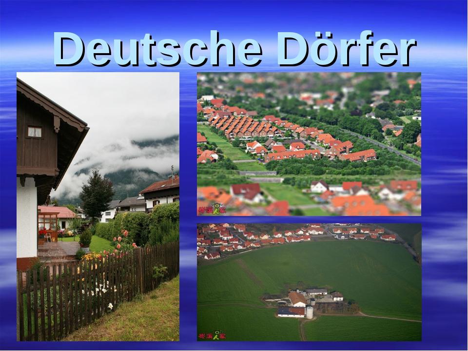 Deutsche Dörfer