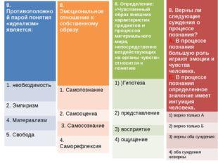 8. Определение: «Чувственный образ внешних характеристик предметов и процессо