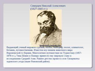 Северцев Николай Алексеевич (1827-1885 гг.) Выдающий ученый мирового уровня,