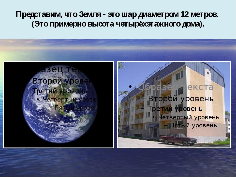 Представим, что Земля - это шар диаметром 12 метров. (Это примерно высота че...