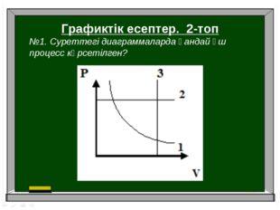 Графиктік есептер. 2-топ №1. Суреттегі диаграммаларда қандай үш процесс көрсе