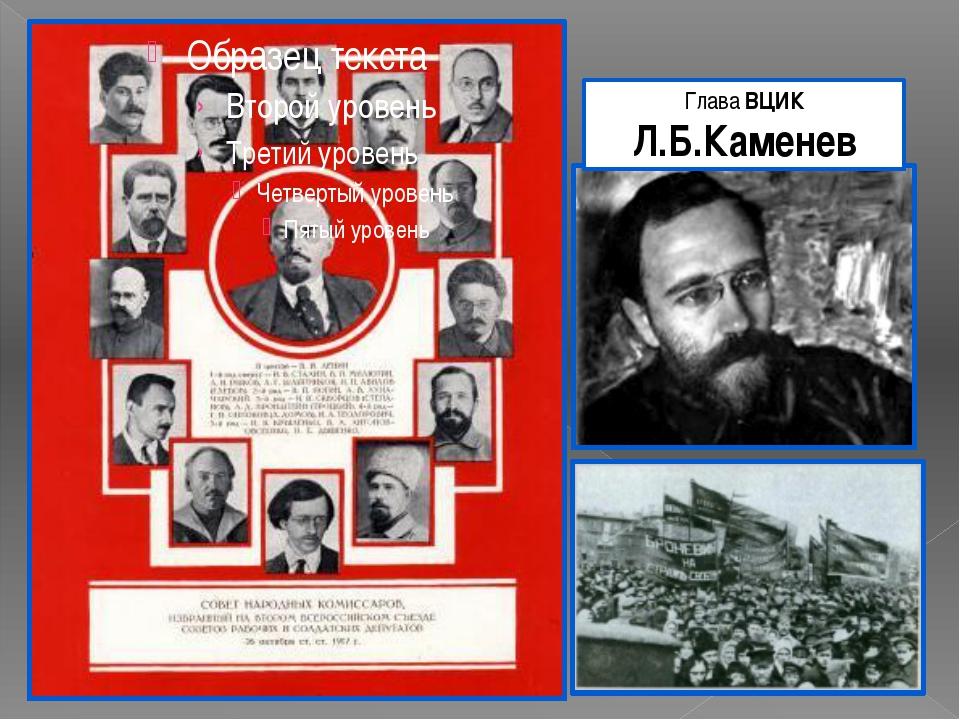 Глава ВЦИК Л.Б.Каменев