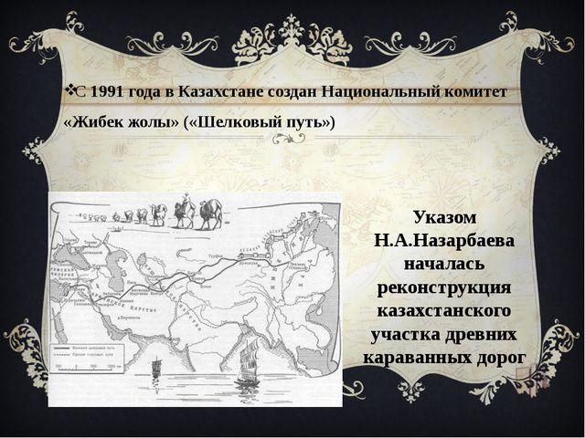 С 1991 года в Казахстане создан Национальный комитет «Жибек жолы» («Шелковый...