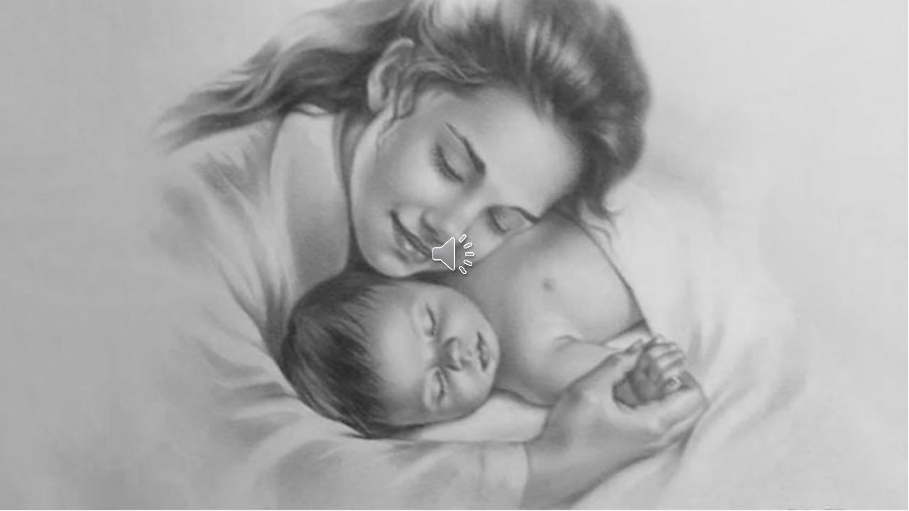 красивые рисунки мама с младенцем слышала