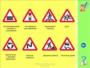 http://www.deti-66.ru/ Мастер презентаций Железнодорожный переезд со шлагбаум
