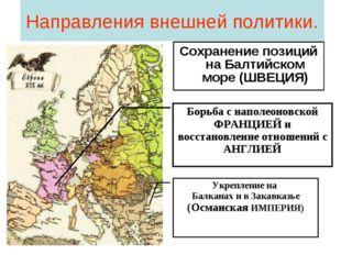 Направления внешней политики. Сохранение позиций на Балтийском море (ШВЕЦИЯ)