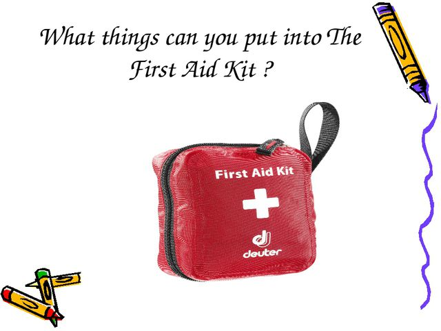 What things can you put into The First Aid Kit ?