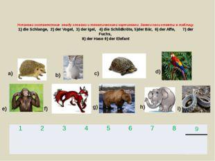 Установи соответствие между словами и тематическими картинками. Занеси свои