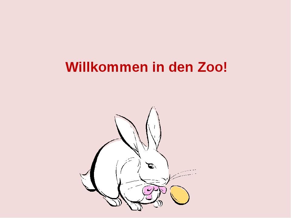 Willkommen in den Zoo!