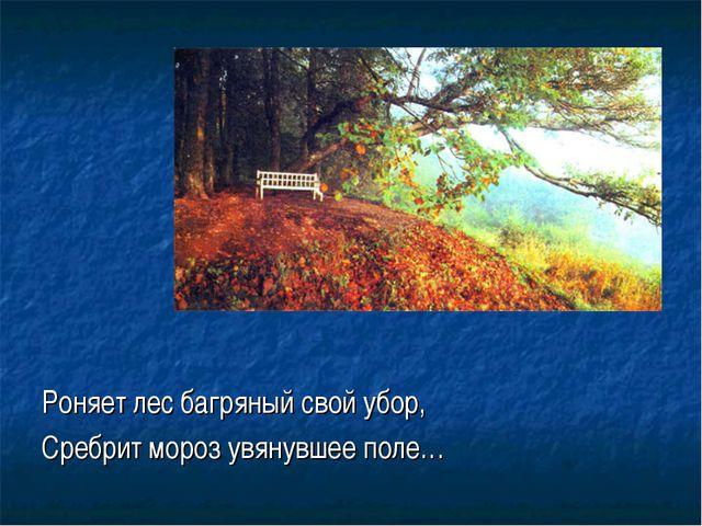 Роняет лес багряный свой убор, Сребрит мороз увянувшее поле…
