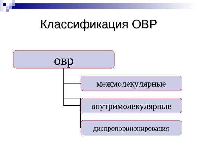 Классификация ОВР