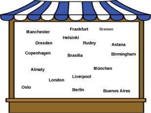 London Birmingham Manchester Bremen Berlin Mūnchen Oslo Buenos Aires Brasilia