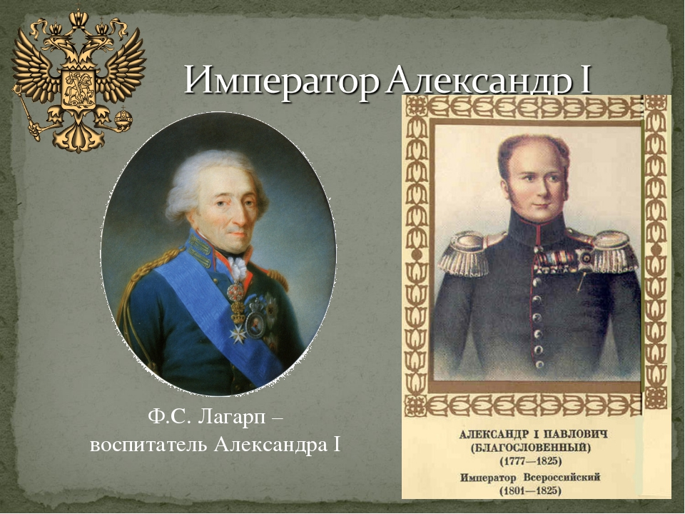 Ф.С. Лагарп – воспитатель Александра I