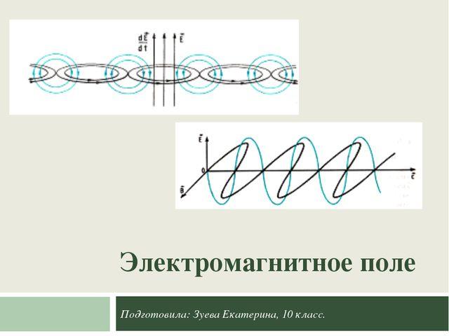 Электромагнитное поле Подготовила: Зуева Екатерина, 10 класс.