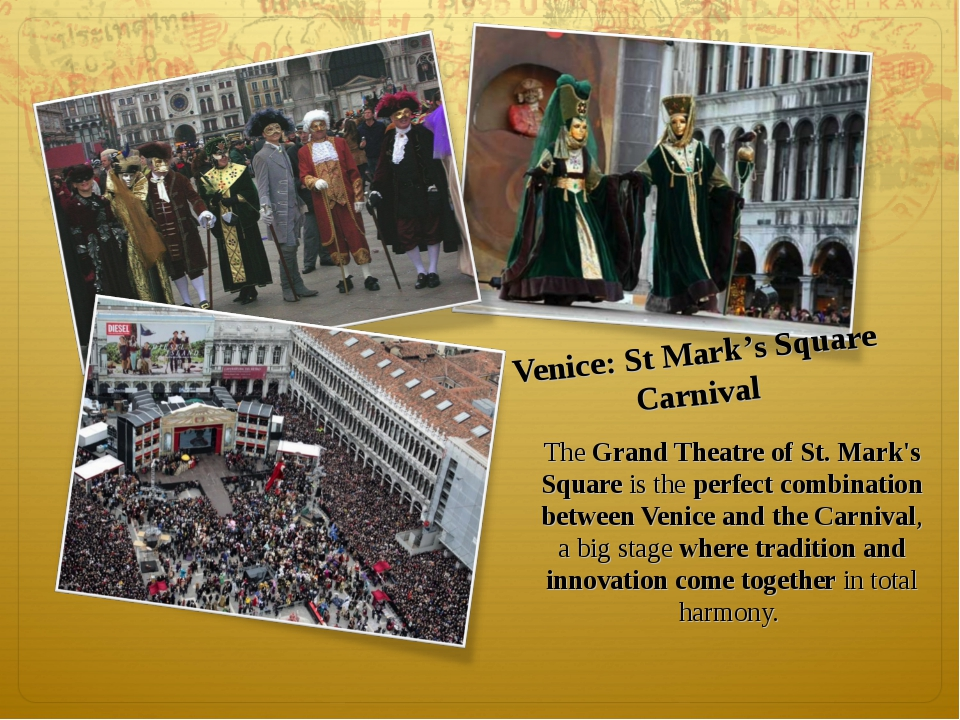 The Grand Theatre of St. Mark's Square is the perfect combination between Ven...