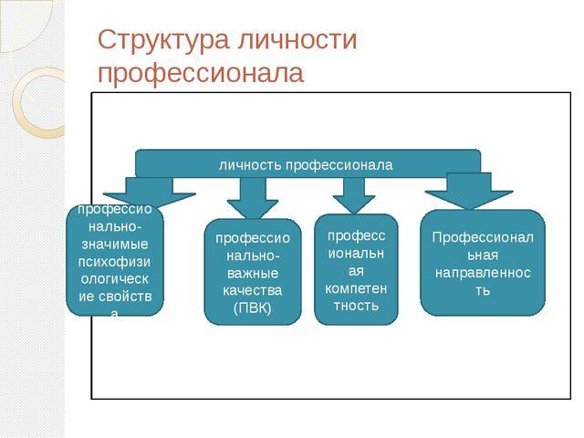 Структура личности профессионала личность профессионала профессионально-значи...