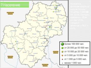 Численность населения области по данным Росстата составляет 1010486 чел. (2