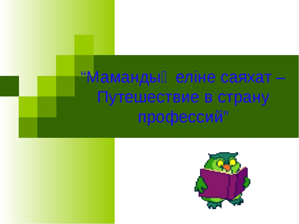 """Мамандық еліне саяхат – Путешествие в страну профессий"""