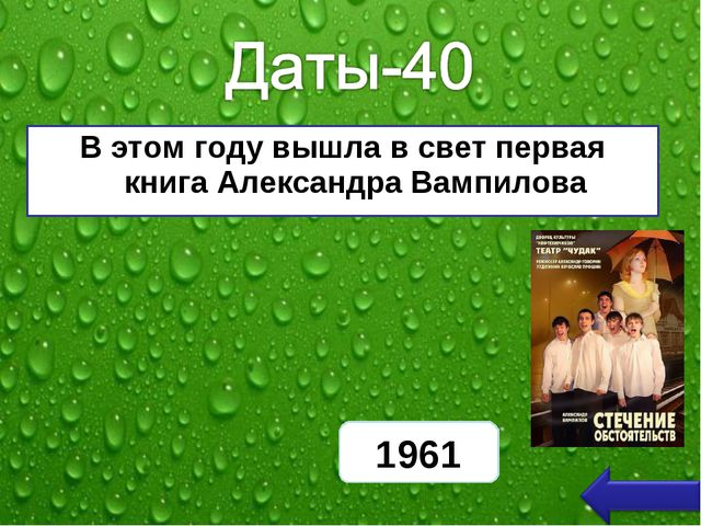 В этом году вышла в свет первая книга Александра Вампилова 1961