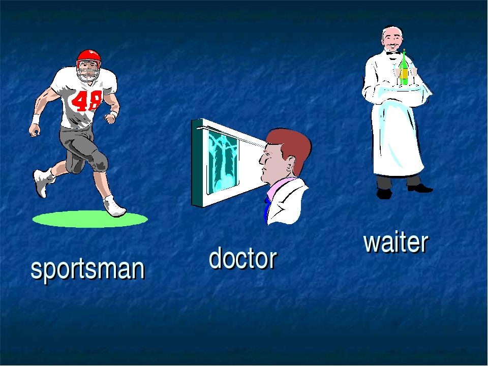 sportsman doctor waiter