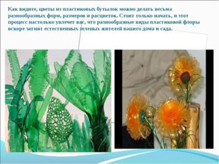 Как видите, цветы из пластиковых бутылок можно делать весьма разнообразных фо